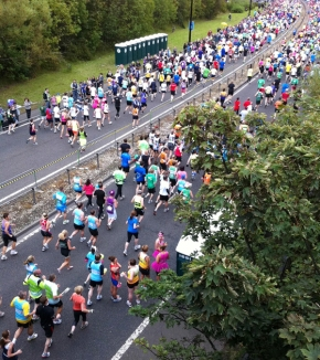 Production Manager Kevin Brown Doing Great North Run 2012 for British Heart Foundation