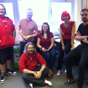Wear It Red Day 2012 at Potts Print (UK) – 1