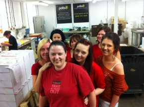 Wear It Red Day 2012 at Potts Print (UK) – 2