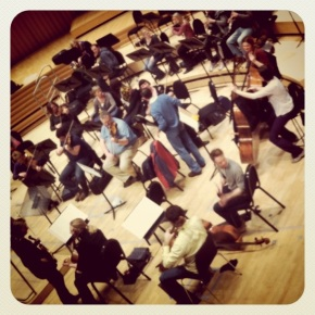 Northern Sinfonia warming up for tonight's bigconcert