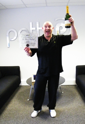 Award For Paul Bonas After Ten Years Service In Print Finishing Team