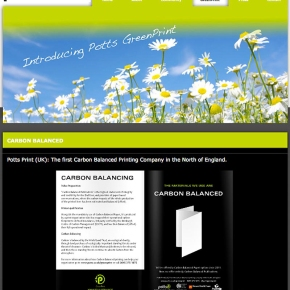 GreenPrint Webpage Online Now