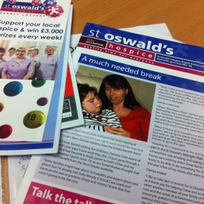 Training & Skills Academy Student James Richardson Gets Involved With St Oswald's Hospice Design Brief