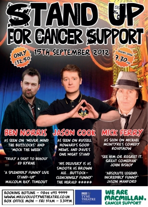 Stand Up for Cancer Support on Saturday 15th September