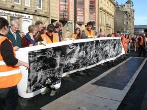 Stupendous Steamroller Printing at Bridges Festival 2012 in August