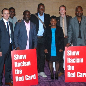 Civic Reception In Newcastle For Doreen Lawrence During Visit To Show Racism the Red Card