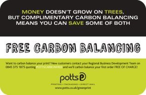Money Doesn't Grow on Trees but Complimentary Carbon Balancing Means You Can Save Some ofBoth