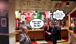 Wor Tony Enjoys Post-Match Pint