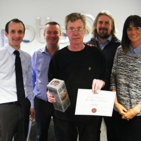 10 Year Length of Service Award for Another Potts Print (UK) Employee