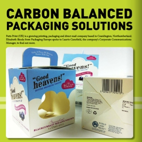 February Packaging Europe Magazine Features Packaging by Potts Print (UK)