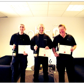 Three more Potts Print (UK) employees reach their 10 year milestone