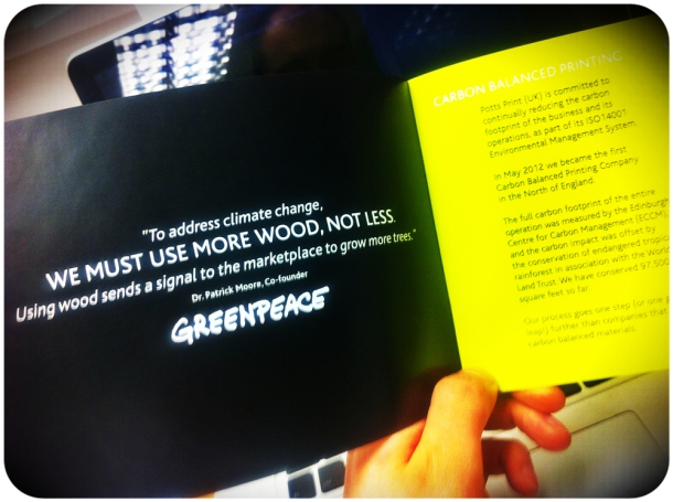 Potts GreenPrint booklet