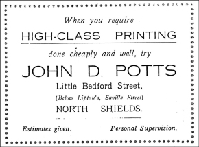 """Neatness, Promptitude, and Strict Economy."" Some old Potts adverts."