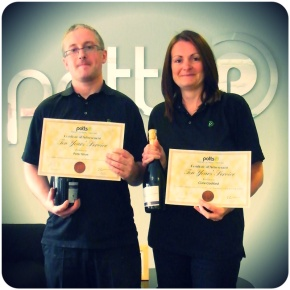 Peter & Clare Receive Employee Length of Service Awards