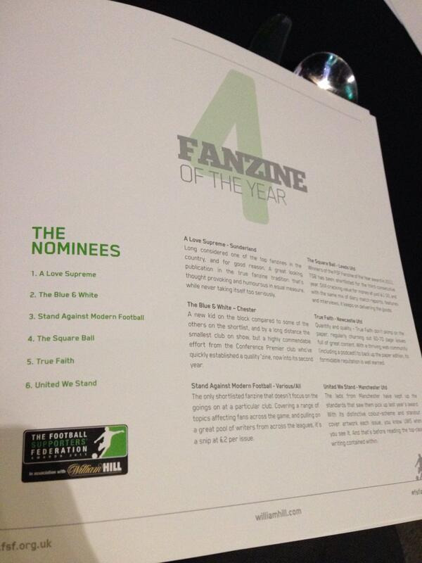 STAND wins Fanzine of the Year